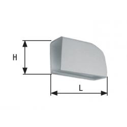 Capot gris pour pivots à sceller ou à cheviller