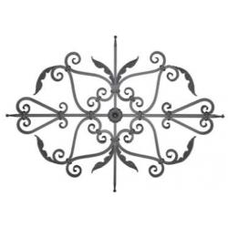 Motif N°51 acier carré diamètre 16 mm 1420x1030 mm