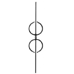Motif N°97 acier carré diamètre 12 mm 950x190 mm