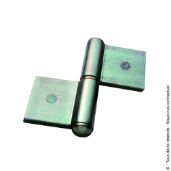 Paumelle de grille à souder roulée lame double tangente