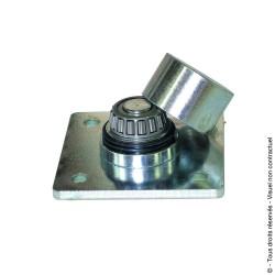 Pivot à souder inférieur à roulement sur platine acier