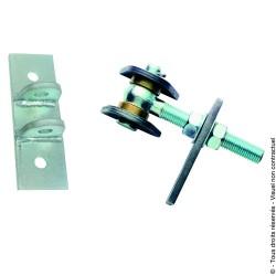 Articulation de portail sur platine à cheviller IDEFIX acier