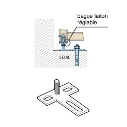 Pivot à cheviller pilier/seuil réglable type 1100