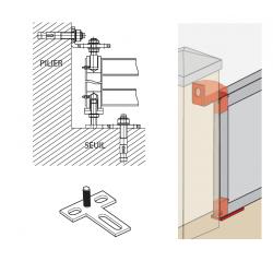 Pivot à cheviller pilier/seuil réglable type 2100