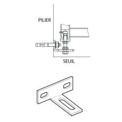 Pivot inférieur à cheviller sur pilier type 1300