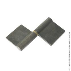 Paumelle de grille à souder profilée nœud arasé lame déportée