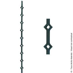 Traverse N°26 acier carré plat de 19x20 mm