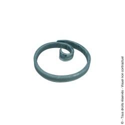 Motif rond N°76 acier plat diamètre 110 mm