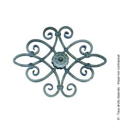 Motif N°8 acier carré diamètre 12 mm 520x420 mm